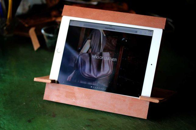革iPadスタンド