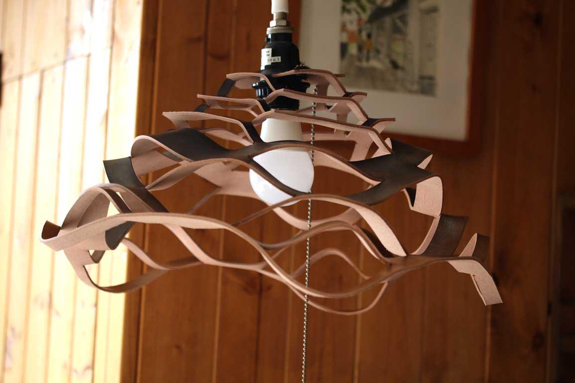 革ランプシェード1灯式
