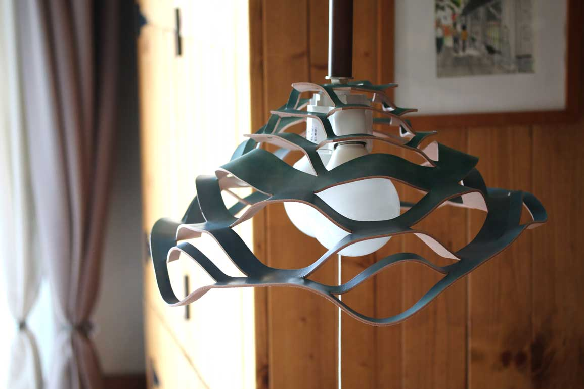 革ランプシェード2灯式