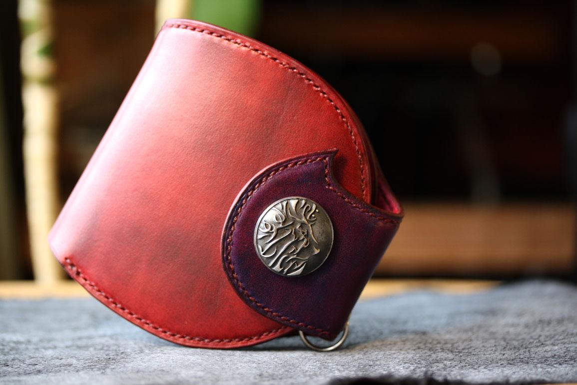 赤×紫丸財布