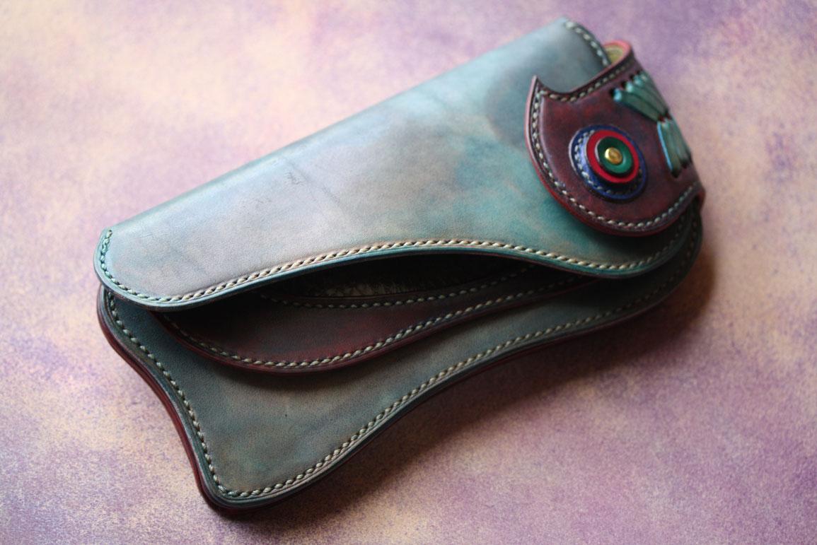 ダメージ染色アンティーク財布