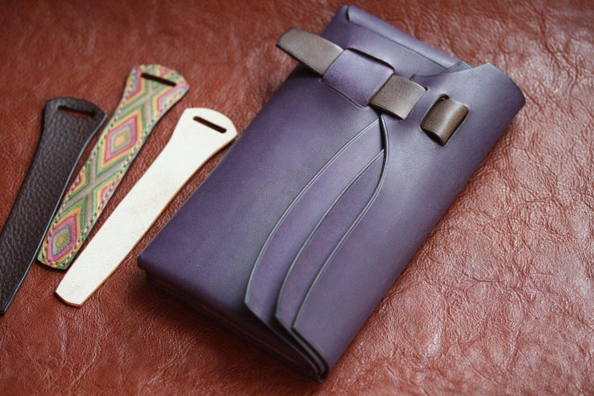 エルバマットバイオレットシームレス財布