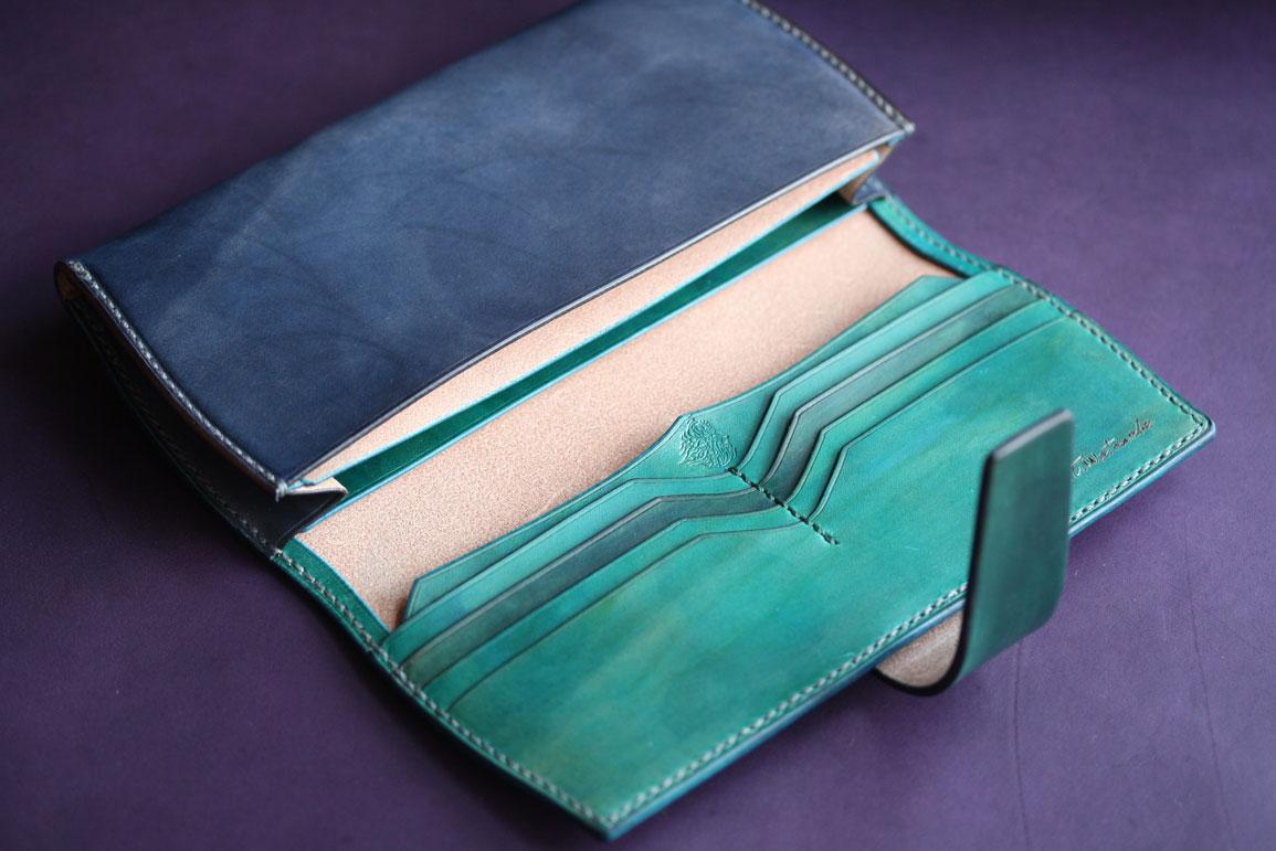 ネイビーグリーン財布