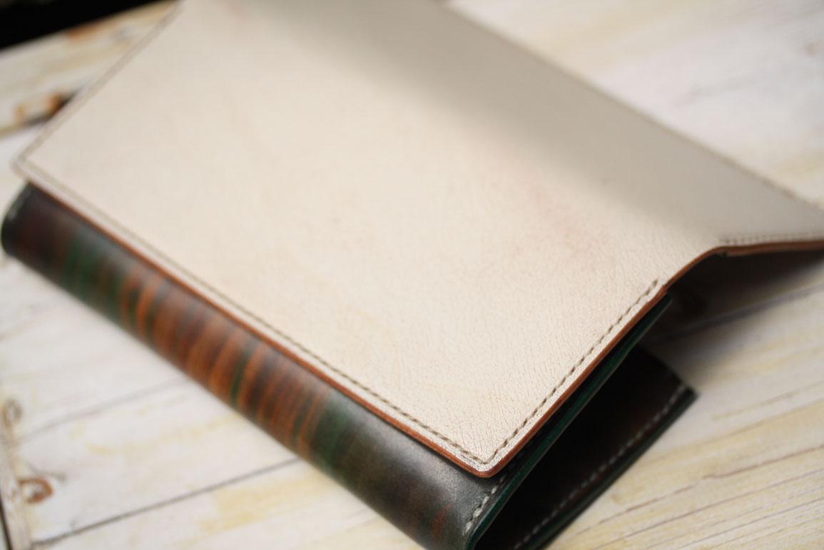 木目調染色+オールドキャニオン財布