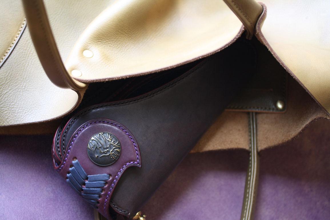 グレーバイオレット財布