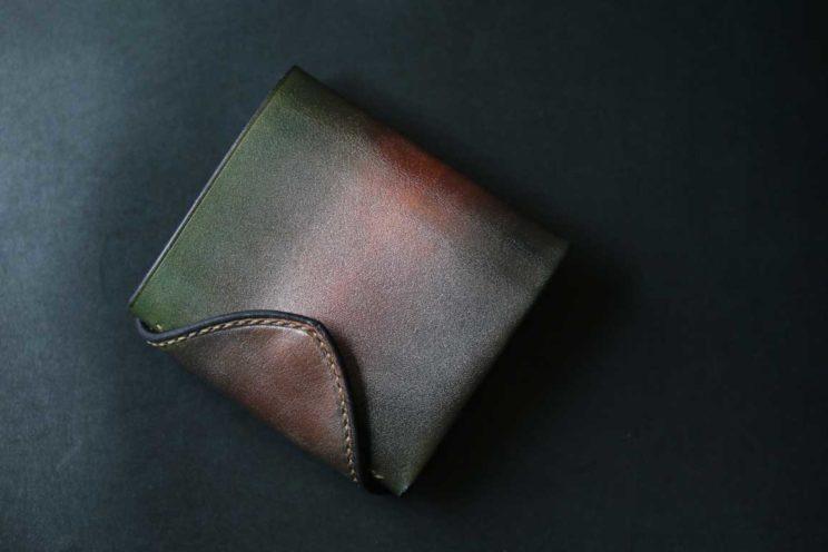 銅グリーンコンパクトシーグラスウォレット