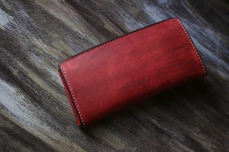 赤茶スリムお財布