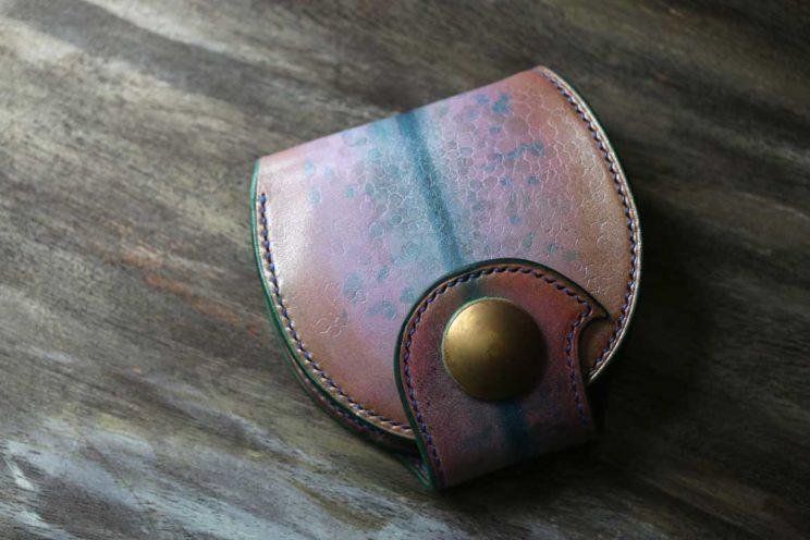 天目風丸い財布