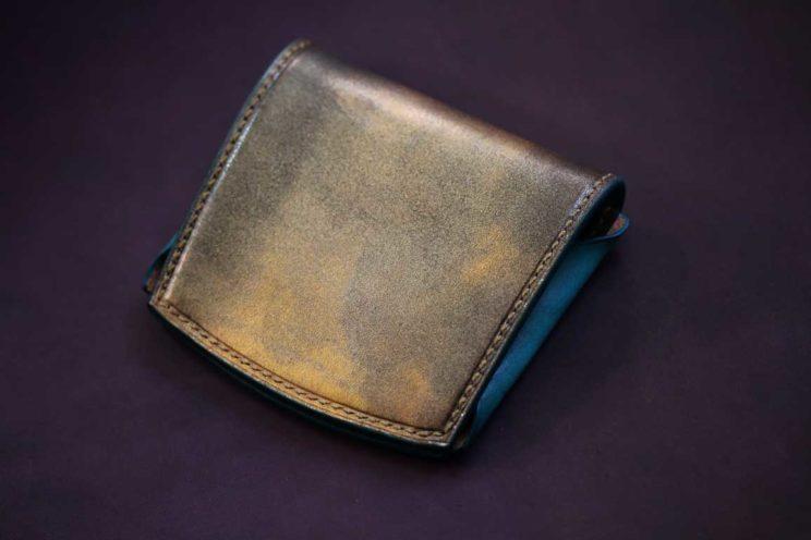 ゴールドブルーコンパクト財布