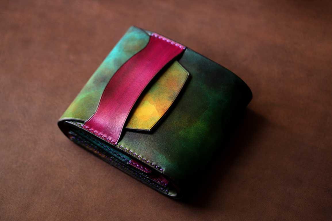 ターコイズ折財布