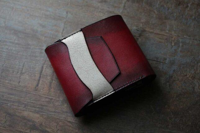 サンバーストカラー折財布