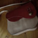 The Asymmetry Contrast Bag レッド×ナチュラル