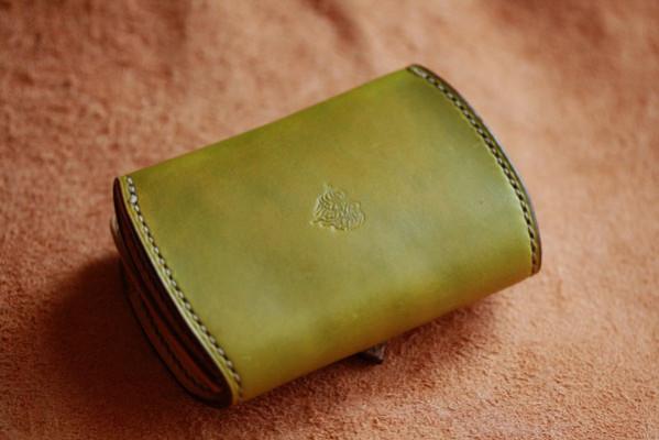 The Fuji Sun Coin Case ナチュラル×ブラック×グリーン