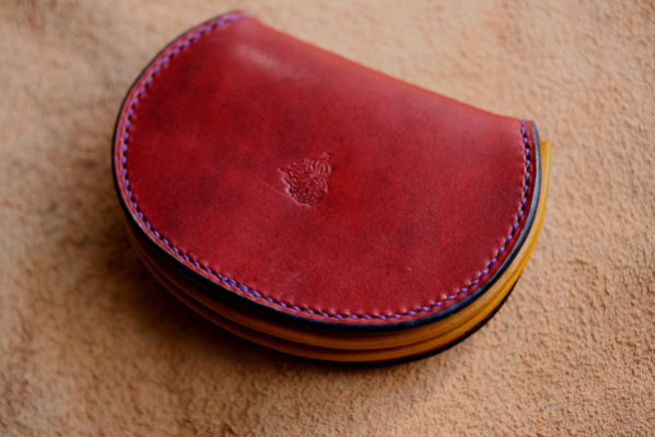 The Accordion Coin Case レッド イエロー