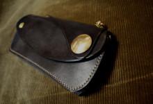 The Leather Armor walletブラック真鍮コンチョ