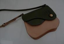 The Asymmetry Contrast Bag ナチュラル×グリーン