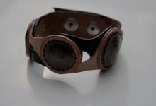 The Three Eyes Bracelet ナチュラル×ブラック