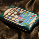 iPhoneケース ブルー