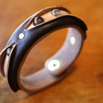 The Leather Quartz Bracelet ブラック×ナチュラル