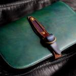 The Leaf Notebook ブルー×グリーン×ブラウン エイ革インレイ