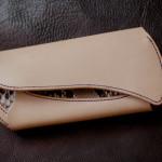 The Peafowl wallet ナチュラル ダイヤモンドパイソンインレイ