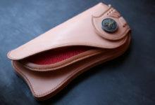 エイ革装飾ヌメ財布