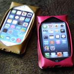 iPhoneケース グリーン ピンク