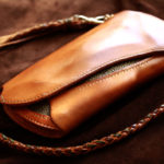 The Peafowl wallet エイジング