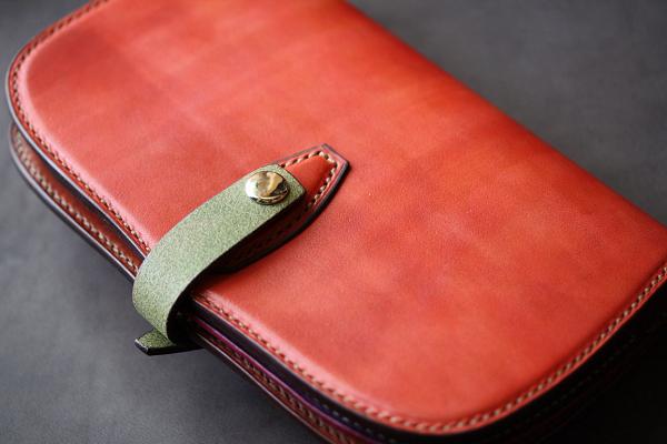 The Leaf Notebook ピンク×レッド×バイオレット×ミント エイ革インレイ