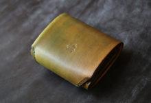 コンパクト財布 黄緑色