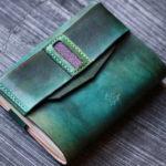 「Just」 Bookjacket  グリーン エイ革装飾