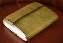 ブックカバー 黄緑