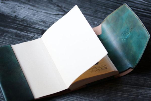 ほぼ日オリジナル手帳カバー グリーン エイ革装飾