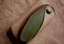 The Leather Armor wallet ナチュラル×グリーン×ブラウン 反転バージョン