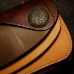 The Leather Armor wallet ナチュラル×ブラウン