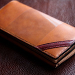 The Napoleon wallet Stylish ブラウン×ナチュラル×レッド