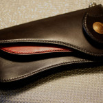 The Lion's Back wallet ブラック×レッド