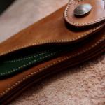 The Lion's Back wallet ナチュラル×グリーン エイジング