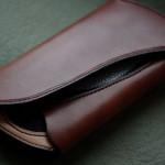 The Peafowl wallet ナチュラル×ブラウン エイ革インレイ
