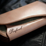 The Peafowl wallet ナチュラル エイ革インレイ