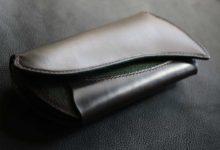 The Peafowl Wallet  ブライドルレザー+手染め染色エイ革
