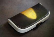 The Dulles Wallet ブラック×ホワイト ゴールド装飾
