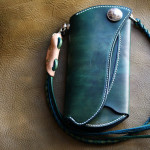 The Peafowl wallet グリーン