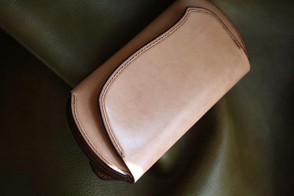 The Peafowl wallet ナチュラル×イエロー×ブラウン