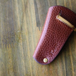 The drop of a palm Keycase ブラウン