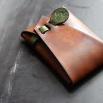 The SAI Cardcase ブラウン×グリーン