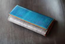 ブルー×グレー財布
