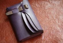 エルバマット紫シームレス財布