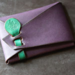 The SAI Cardcase エルバマットバイオレット×グリーン