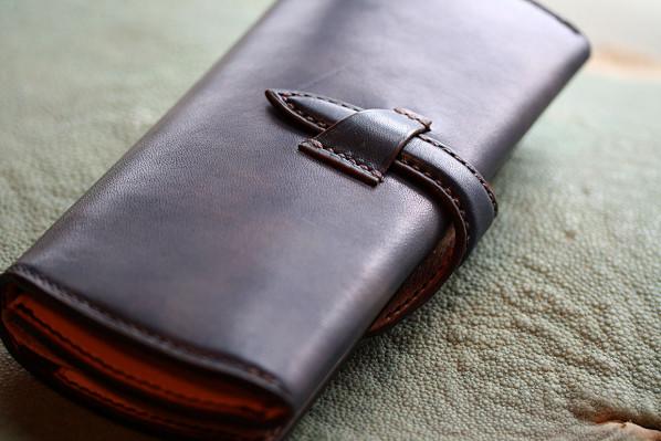 The Napoleon wallet Stylish ネイビー×ナチュラル